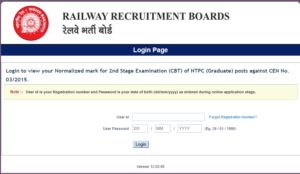 RRB NTPC Mains Results 2017 Released – RRB Main 2nd Stage Normalized Marks, Cutoff, Score For All Zones @ indianrailways.gov.in