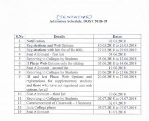 Telangana DOST Notification 2018 – Apply Online, Schedule, Exam Dates Degree Online Admissions @ dost.cgg.gov.in