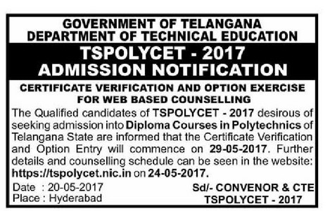 ts polycet counselling notification