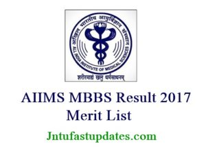 AIIMS MBBS Result 2017 Released Now @ aiimsexams.org – Download AIIMS Medical Entrance Rank Card, Merit List, Cutoff Marks