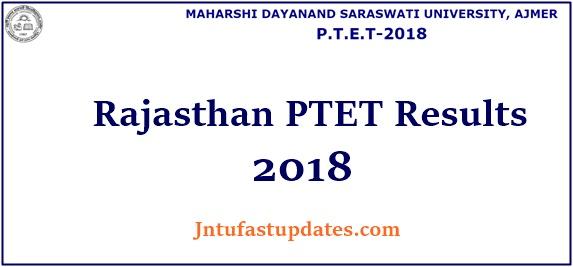 Rajasthan PTET Result 2018