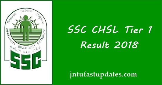 SSC CHSL Result Tier 1 2018