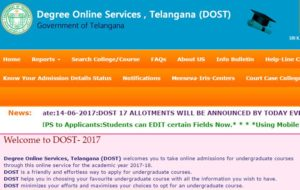 Telangana DOST Seat Allotment Results 2017 Declared Now @ dost.cgg.gov.in