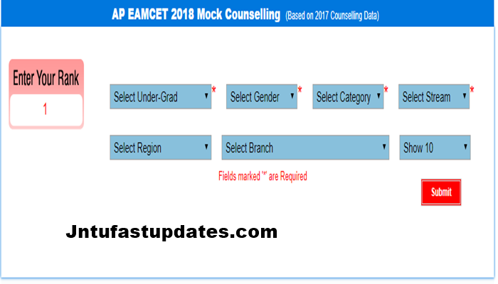 AP EAMCET Mock Counselling 2019 - Engineering/Medical (Eenadu