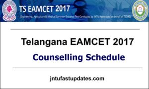 TS EAMCET Counselling 2017 Dates, Schedule Rank Wise, Certificate Verification @ tseamcet.nic.in