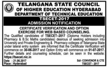 ts ecet 2017 web counselling notification