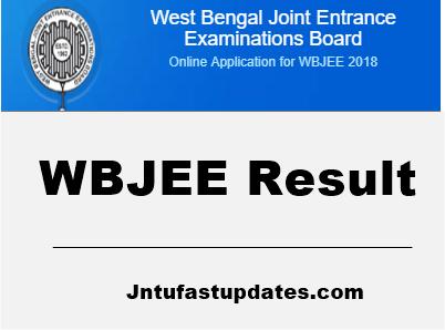 wbjee result 2018