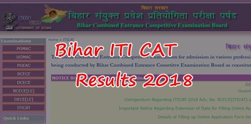 Bihar ITICAT Results 2018