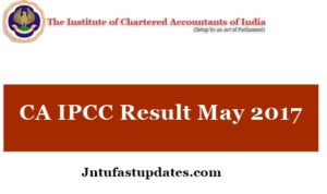 CA IPCC Result May 2017 OUT Now@ icaiexam.icai.org – DownloadCenter/ Name Wise Results (Pass Percentage)