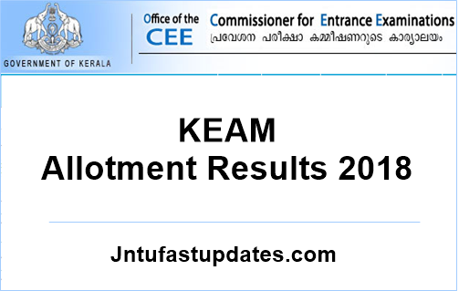 KEAM Trial Allotment Result 2018