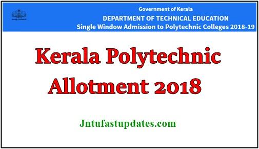 Kerala Polytechnic Second Allotment 2018