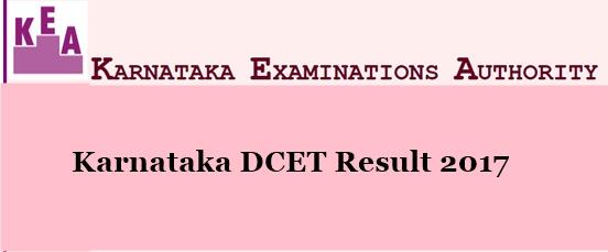 Karnataka DCET Results 2017