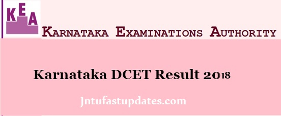 Karnataka DCET Results 2018
