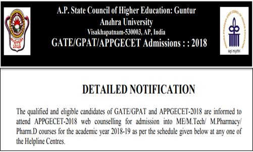 ap pgecet counselling notification 2018
