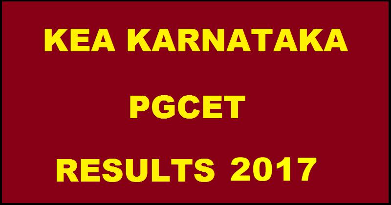 Karnataka PGCET Results 2017