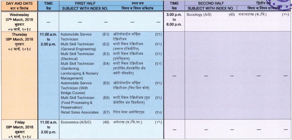 Maharashtra HSC Time Table 2018 For General/Vocational ...