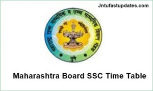 Maharashtra board ssc time table
