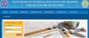 SBTET Diploma Online Fee Payment