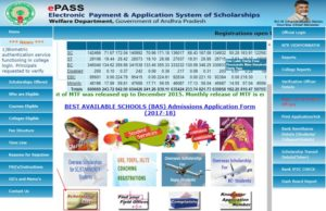AP EPASS Scholarship Application Status 2017 Check Online at epass.apcfss.in