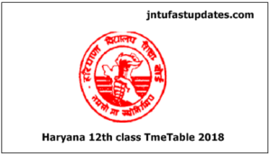 HBSE 12th Date Sheet 2018 – Haryana Bhiwani Board 12th Class/Sr Secondary Time Table Download