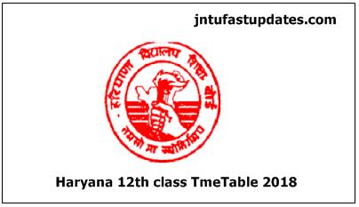 BSEH 12th Class Date Sheet 2018