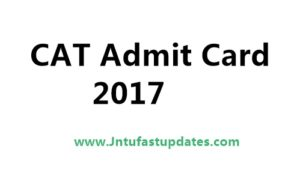 CAT Admit Card/ Hall Ticket 2017 Released – Download @ iimcat.ac.in