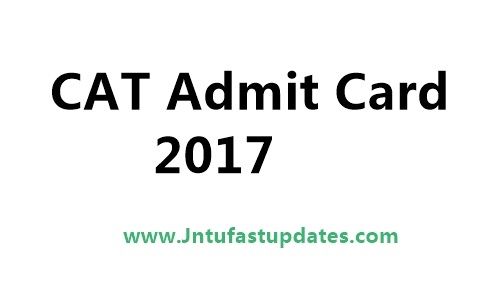 CAT Admit Card 2017 Download