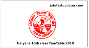 Haryana Board 10th Class Date Sheet 2018 – BSEH Matriculation/Secondary Time Table