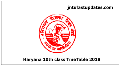 Haryana Board 10th Class Date Sheet 2018