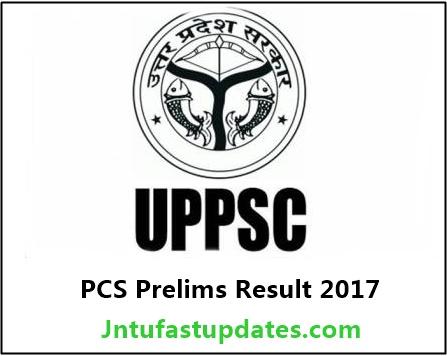 UPPSC PCS Prelims Result 2017