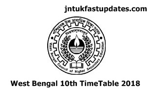 West Bengal board 10th time table 2018