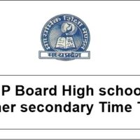 mp board exam time tables