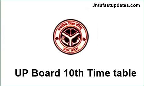 Up board high school 10th time table 2018 download for Up board 10th time table