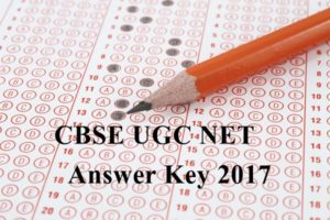 CBSE UGC NET Answer Key 2017