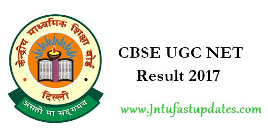 CBSE UGC NET Result 2017