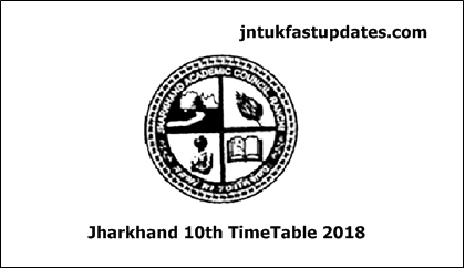 JAC 10th Time Table 2018