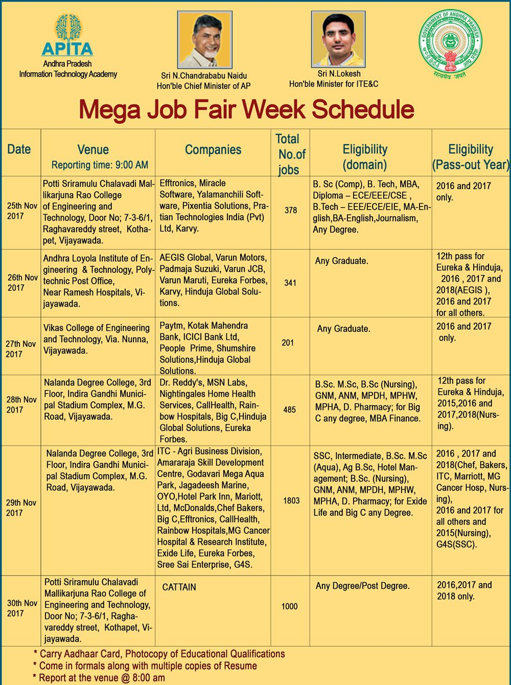 Mega Job Fair_schedule
