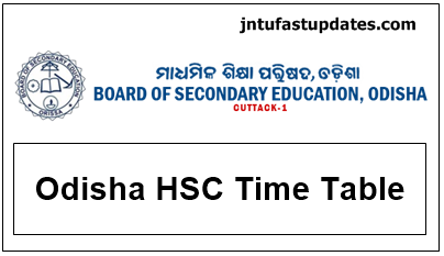 Odisha hsc time table 2018