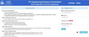 VITEEE 2018 Registration – VIT Engineering Entrance Exam Online Application Form, Exam Dates Apply @ vit.ac.in