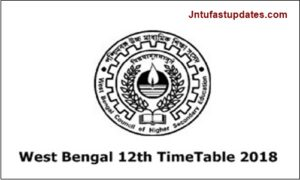 West Bengal HS Routine 2018 – WBCHSE 12th Class Time Table Download