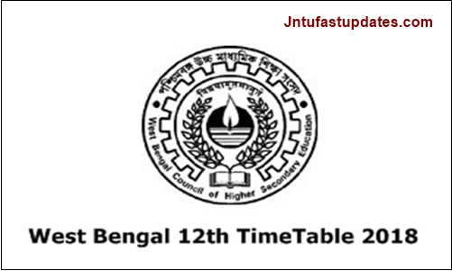 WBCHSE 12th Class Time Table