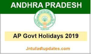 ap govt holidays 2019