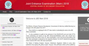 Requirement of Aadhaar for the Applicants of JEE (Main) 2018