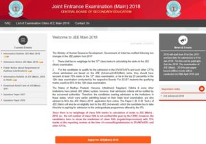 JEE Main 2018 Applying Online and Submission of Application @ jeemain.nic.in
