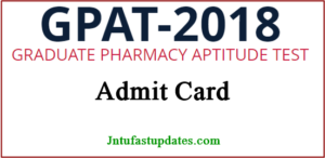 GPAT Admit Card 2018 – GPAT Hall Ticket Download @ aicte-gpat.in