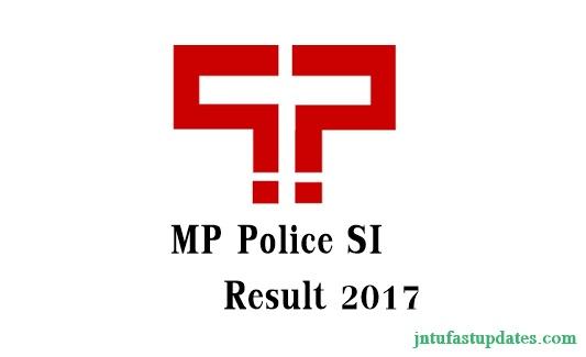 MP Police SI Result 2017