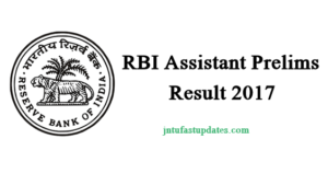 RBI Assistant Result 2017 Released – Download RBI Assistant Prelims Results, Cutoff Marks @ rbi.org.in