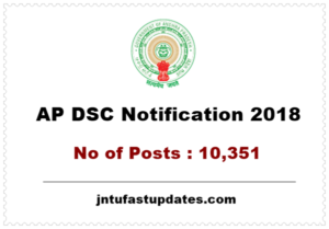 AP DSC Notification 2018 – Apply Online for 10351 SGT, SA, PET, LP Teacher Vacancies @ psc.ap.gov.in