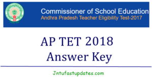 APTET Answer Keys 2018 Download For Paper 1, 2A, 2B With Question Papers (All Sessions) @ aptet.apcfss.in