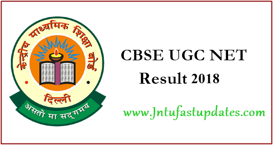 CBSE UGC NET Result July 2018